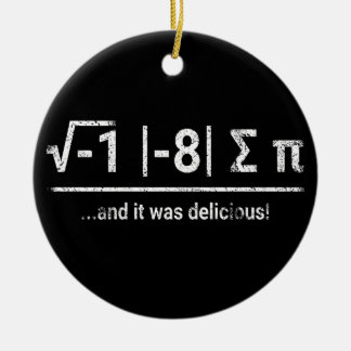 I Ate Some Pi | vintage light Ceramic Ornament