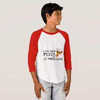 """I Ate Your Pizza"" Kids American Sleeve Shirt"
