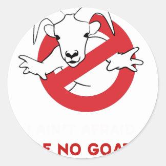 I aunt no goat classic round sticker