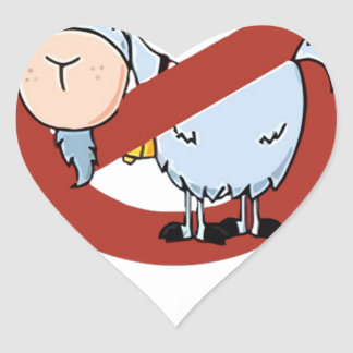 I aunt no goat funny heart sticker