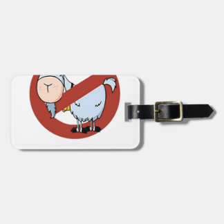 I aunt no goat funny luggage tag