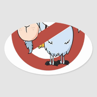 I aunt no goat funny oval sticker