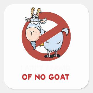 I aunt no goat funny square sticker