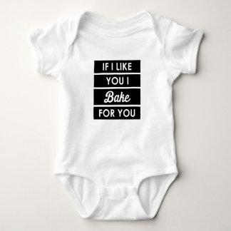 I Bake For You Baby Bodysuit