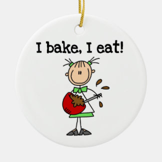 I Bake I Eat Custom Ornament