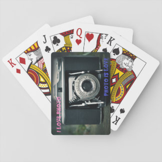 I baralho I LOVE PHOTO PHOTO IS LOVE Playing Cards