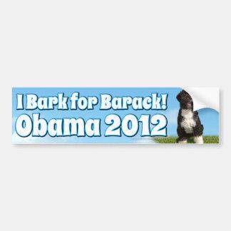I Bark for Barack, Bo the First Dog Obama Bumper Sticker
