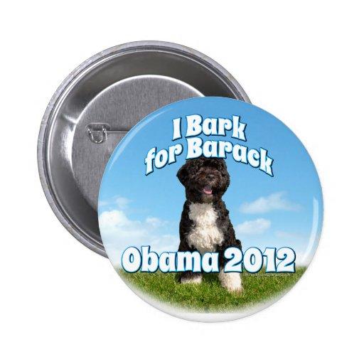 I Bark for Barack, Bo the First Dog Obama Pins