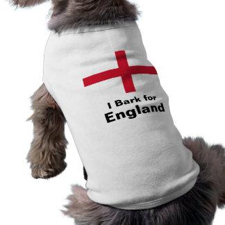 I Bark for England Dog T-shirt