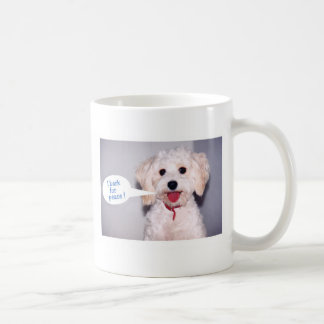 I Bark for Peace - Customized Coffee Mug