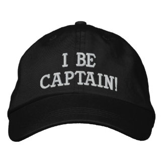 I Be Captain. Black and White. Embroidered Hat