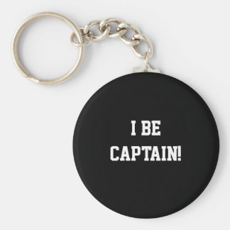 I Be Captain. Black and White. Keychain
