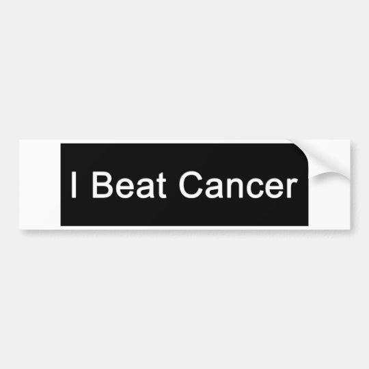 I Beat Cancer Bumper Sticker