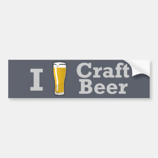 I [beer] Craft Beer Bumper Sticker