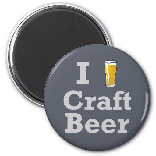 I [beer] Craft Beer Refrigerator Magnet