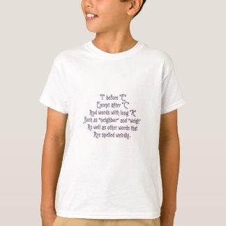 I Before E Memory Aids T-Shirt
