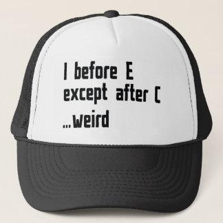 I Before E Trucker Hat