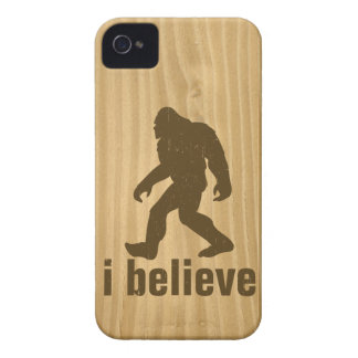 i beleive - Brown Bigfoot and Woodgrain texture iPhone 4 Covers