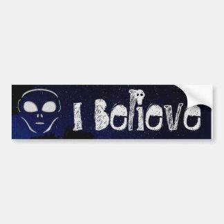 I Believe Alien UFO Planet  Bumper Bumper Sticker