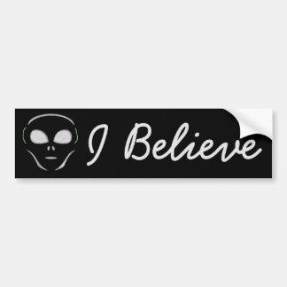 I Believe, Aliens UFO Bumper Sticker