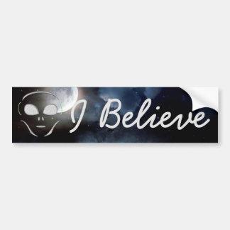 I Believe, Aliens UFO Planet  Bumper Sticker