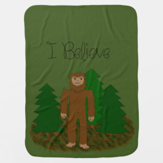 I Believe - Bigfoot - change color Baby Blanket