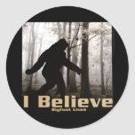I Believe Bigfoot Lives Round Stickers