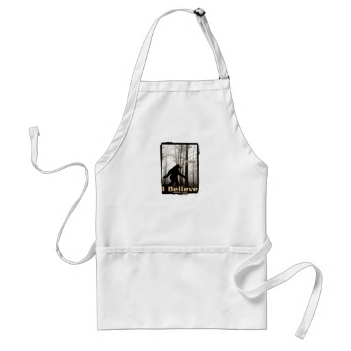 I Believe Bigfoot Lives Standard Apron