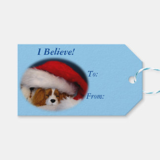"""I Believe"" Blenheim Cavalier Gift Tags"