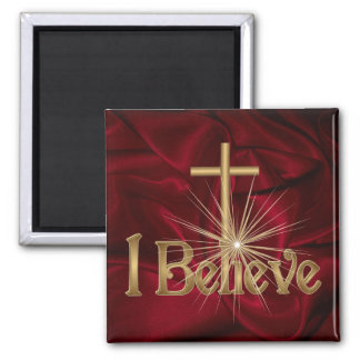 I Believe Christian Cross Magnet