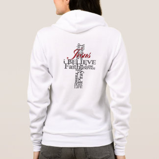 i believe Christian faith zip hoodie women's