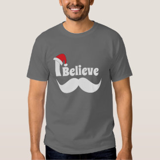 I believe christmas design with mustache shirt