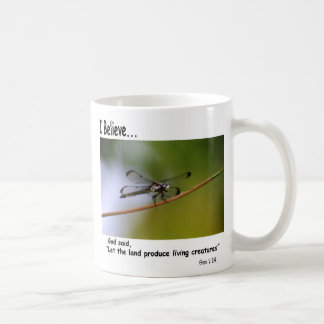 I Believe Coffee Mug With Dragonfly