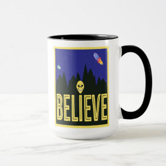 I Believe Cute Alien Design Mug