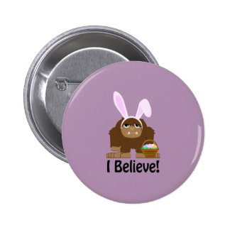 I Believe! Easter Bigfoot 2 Inch Round Button
