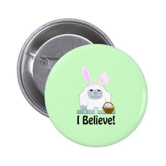 I Believe! Easter Yeti 2 Inch Round Button