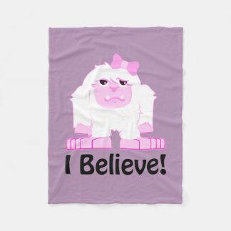 I Believe! Girl Yeti Fleece Blanket