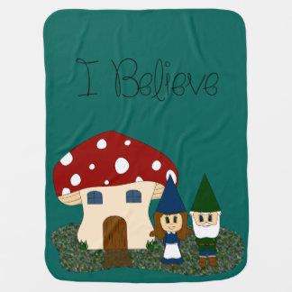 I Believe - Gnomes - change color Swaddle Blankets