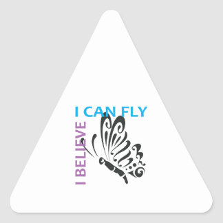 I BELIEVE I CAN FLY TRIANGLE STICKERS