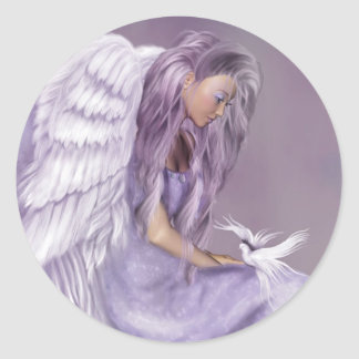 I Believe In Angels Classic Round Sticker
