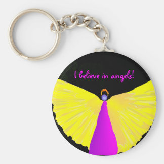 I Believe in Angels! Keychain