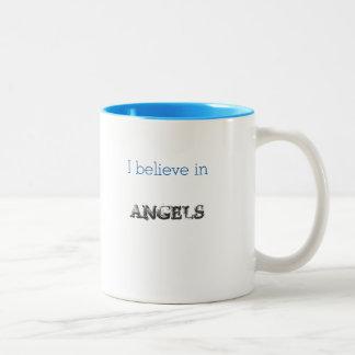 I Believe in Angels mug large wings