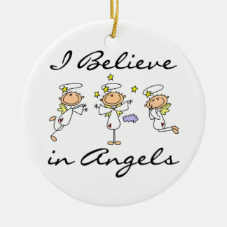 I Believe in Angels T-shirts and Gifts Ceramic Ornament