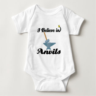 i believe in anvils baby bodysuit