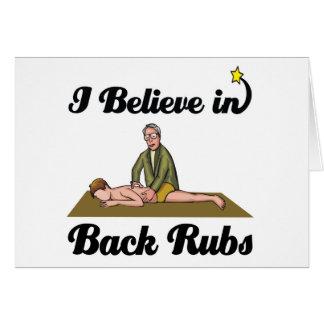 i believe in back rubs card