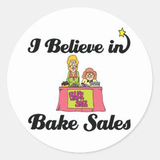 i believe in bake sales round sticker