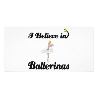 i believe in ballerinas photo card template