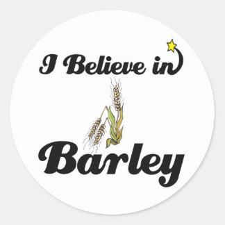 i believe in barley classic round sticker