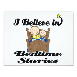 i believe in bedtime stories boys personalized invites