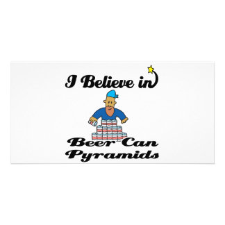 i believe in beer can pyramids photo card template